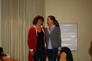 Frau Dr Nantke und Iris Ginsberg (v.l)